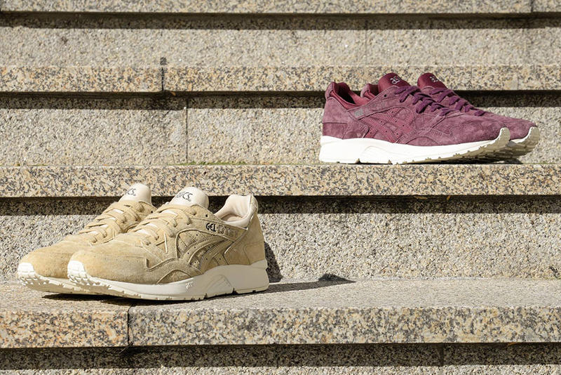 on sale 51e59 5552f ASICS GEL-Lyte V in Suede Eggplant & Taupe | HYPEBEAST