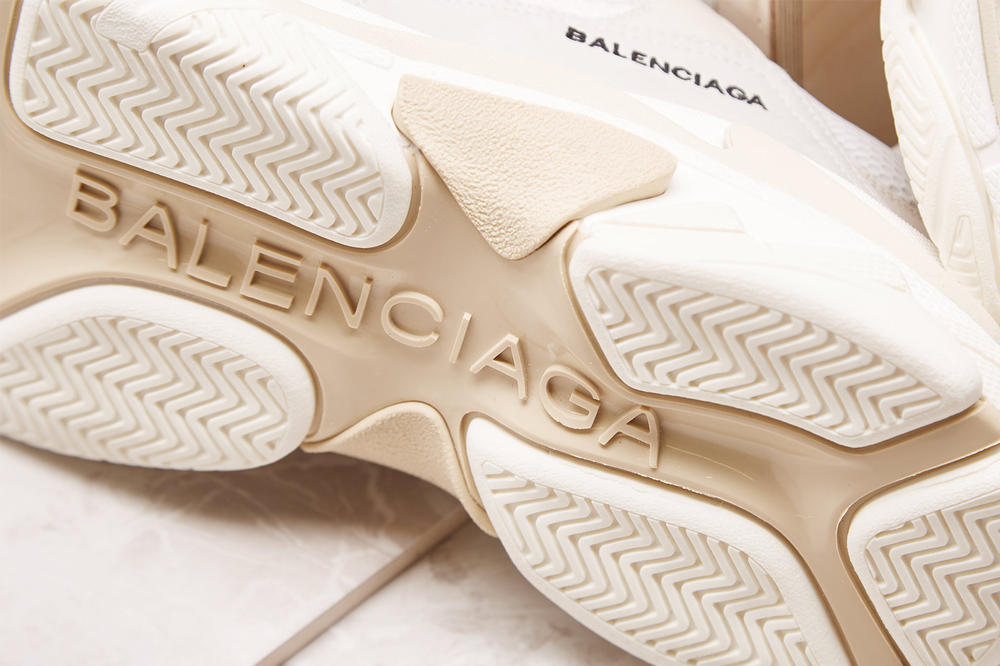 Balenciaga Triple S Cream 2017 October 30 Release Date Info Sneakers Shoes Footwear END Clothing Launches Drops Closer Look