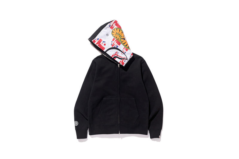 "BAPE ""Our City"" British Themed Shark Hoodie Sk8thing Selfridges"