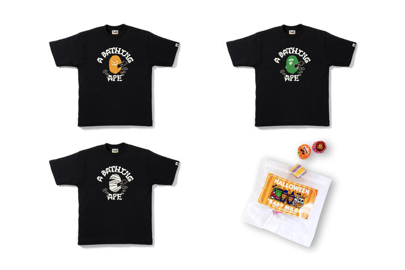 BAPE Halloween 2017 Capsule Collection A Bathing Ape October 14 Release Date Info T Shirt Tee Baby Milo Candy Glow in the Dark
