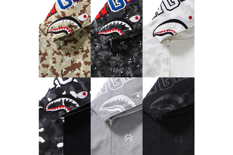 Bape Shark Hoodie New Colorways