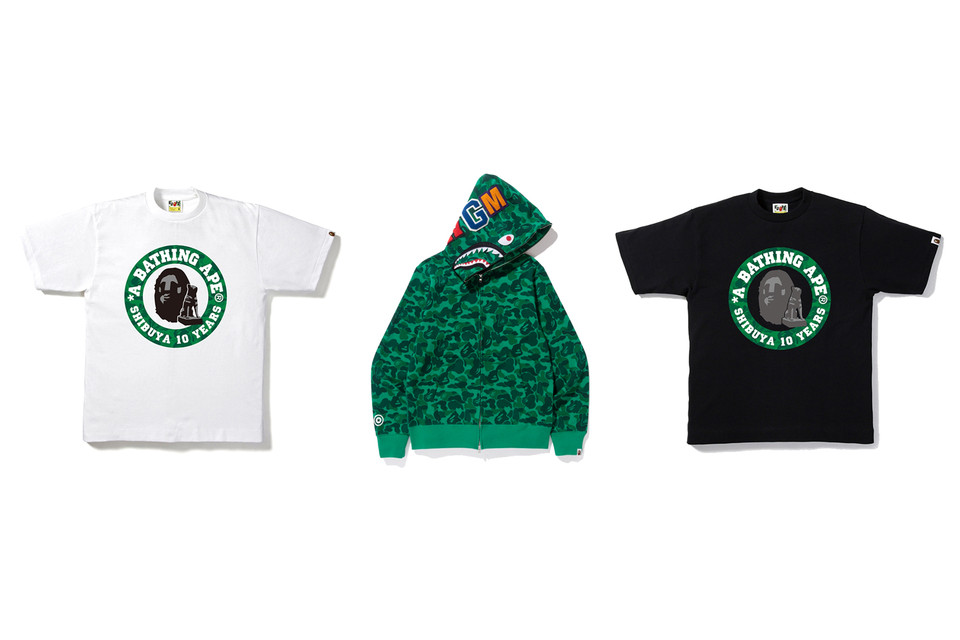20895f79d BAPE Shibuya Store 10th Anniversary Collection | HYPEBEAST
