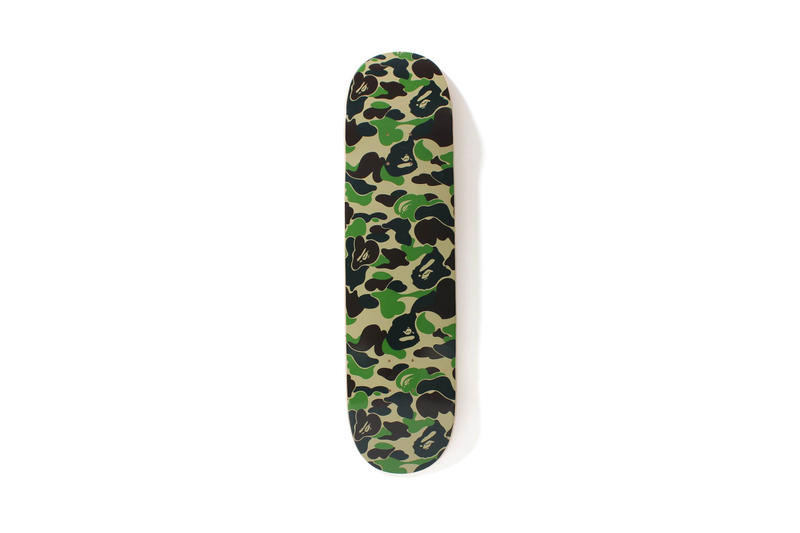 BAPE ABC Camo Print Skateboard Decks Release Wheels Keychains Three Colors Pink Blue Olive
