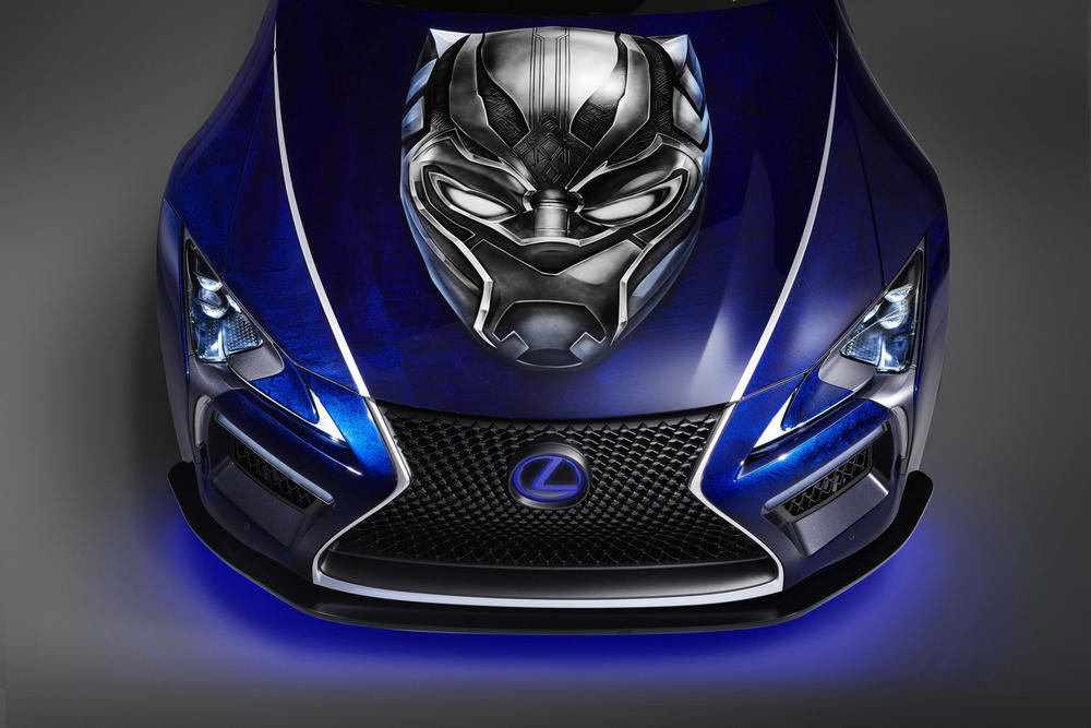 Marvel Black Panther Lexus LC Concept Car Vehicle Collaboration Custom