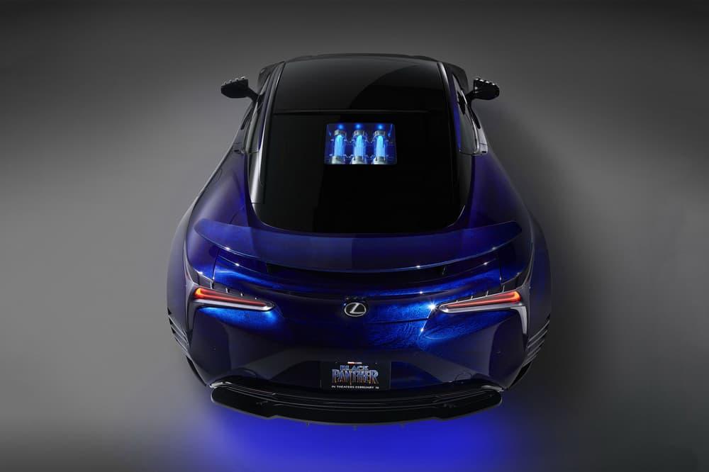 Marvel Black Panther Lexus LC Concept Car Vehicle Collaboration Custom