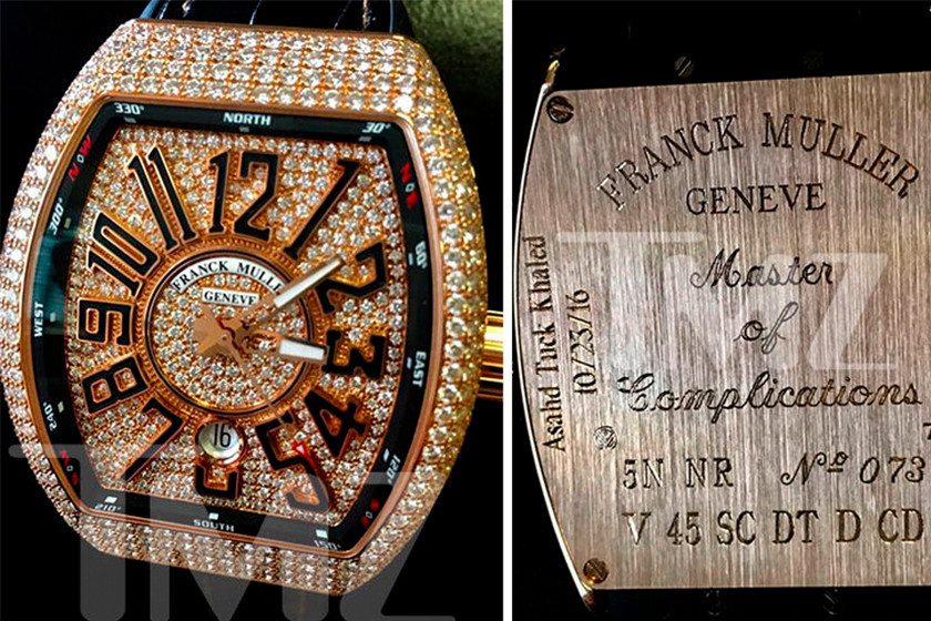DJ Khaled Asahd First Birthday Diamond Watch Gift