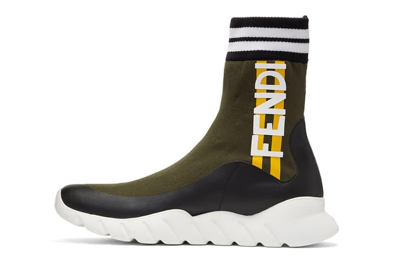 Fendi High Top Sock Trainer Think