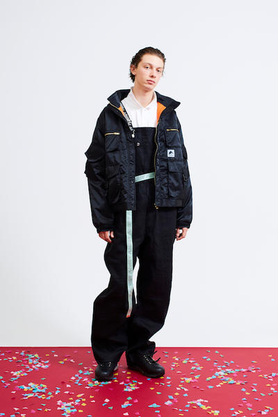 F-LAGSTUF-F Spring/Summer 2018 Collection outwear jackets coats streetwear menswear style fashion orange graphics prints overalls mexico japan