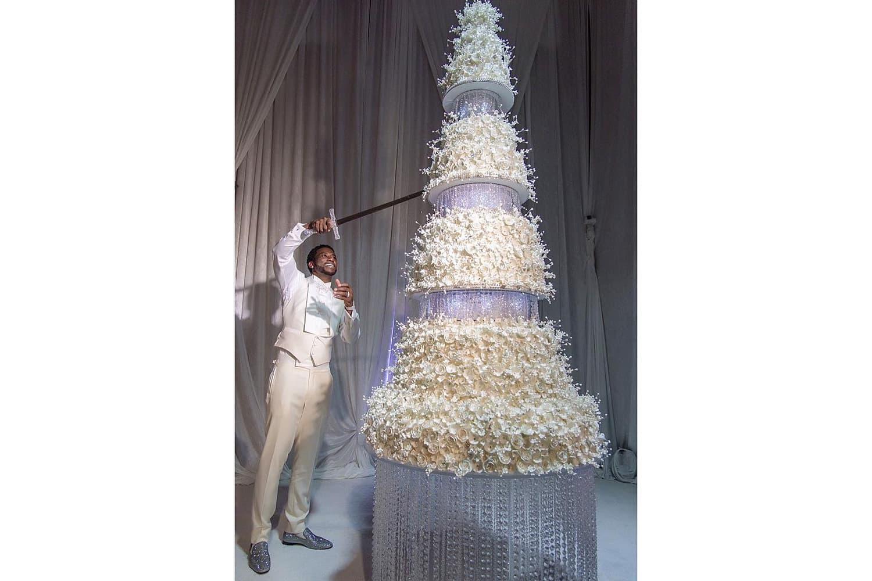 Gucci Mane Cut His $75,000 USD Wedding Cake With a Sword