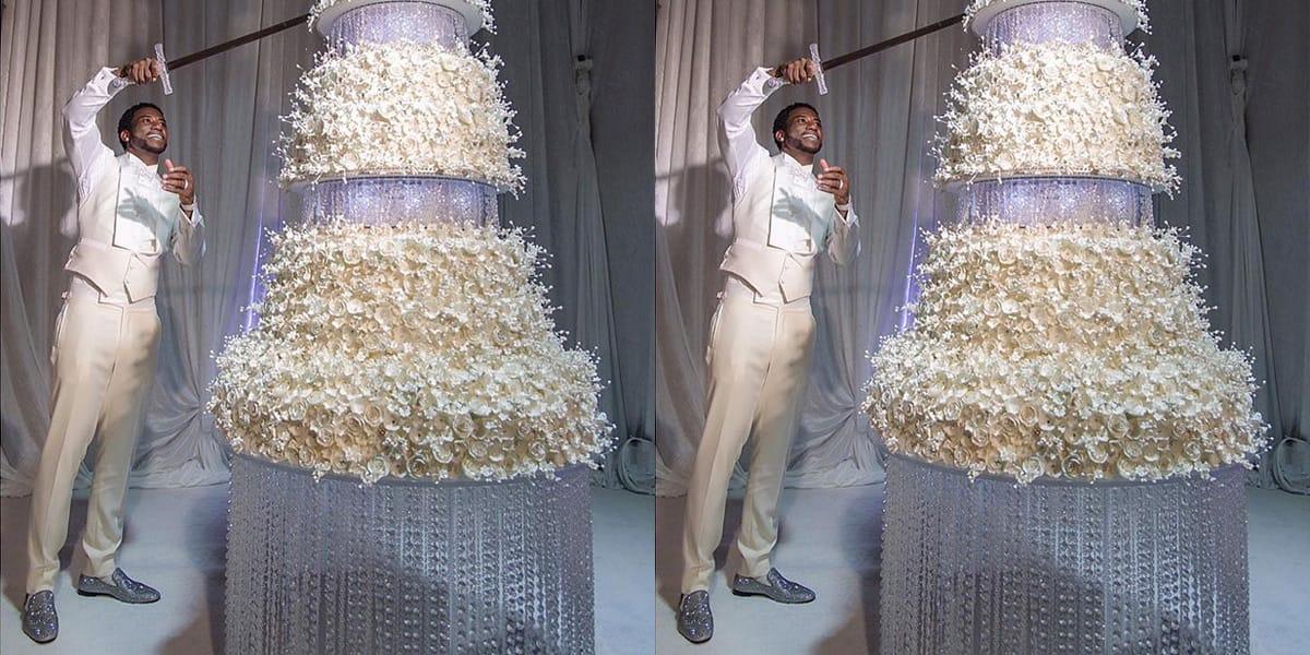 Gucci Mane Cut $75,000 Wedding Cake With a Sword