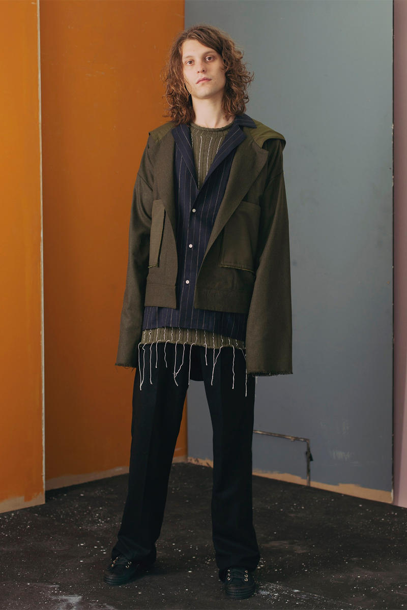 JAMES STUDIO 2018 Spring Summer Collection lookbook menswear suits suiting denim sweaters outerwear jeans jackets coats