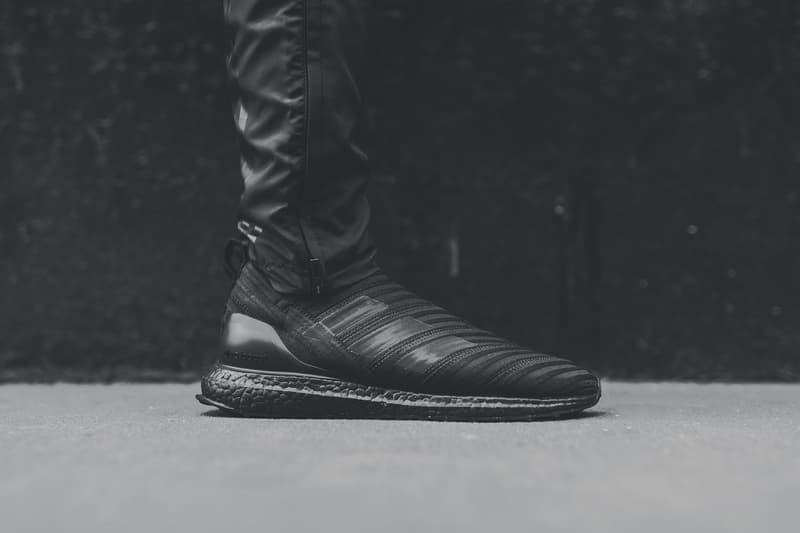 a2e08674cab7d KITH adidas Nemeziz Tango 17 UltraBOOST Closer Look Footwear Black Soccer  Release Date Info Drops November