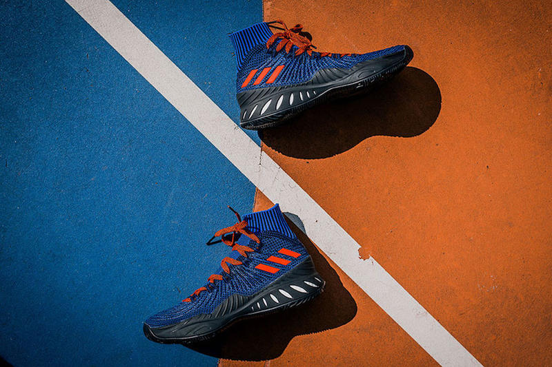 Kristaps Porizingis adidas Crazy Explosive PE Launch Party Packer Shoes New York Knicks