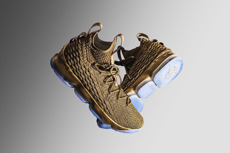 LeBron James Custom Gold Nike LeBron