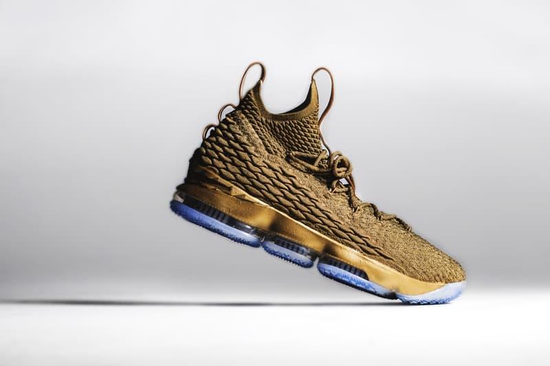 LeBron James Lebron 15 Gold Customs The Shoe Surgeon