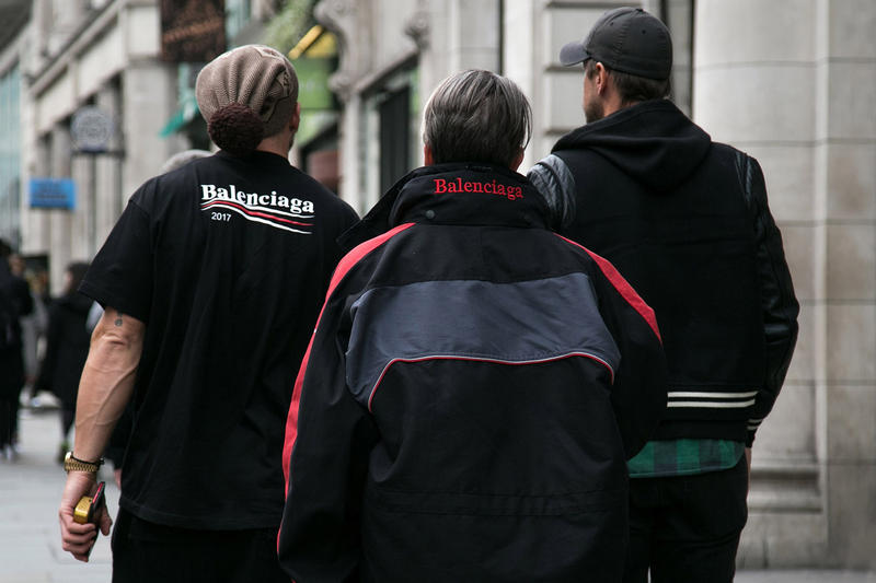 London Street Style Fall/Winter 2017 Autumn/Winter Balenciaga Supreme Off-White comme des garçons Palace Raf Simons Stussy Patta