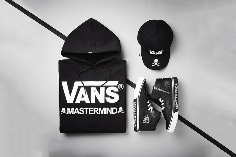 6fe56feec35d21 mastermind Japan Vans Collaboration collection 2017 Fall Winter Mountain  Edition sneakers hoodie trucker hat skull