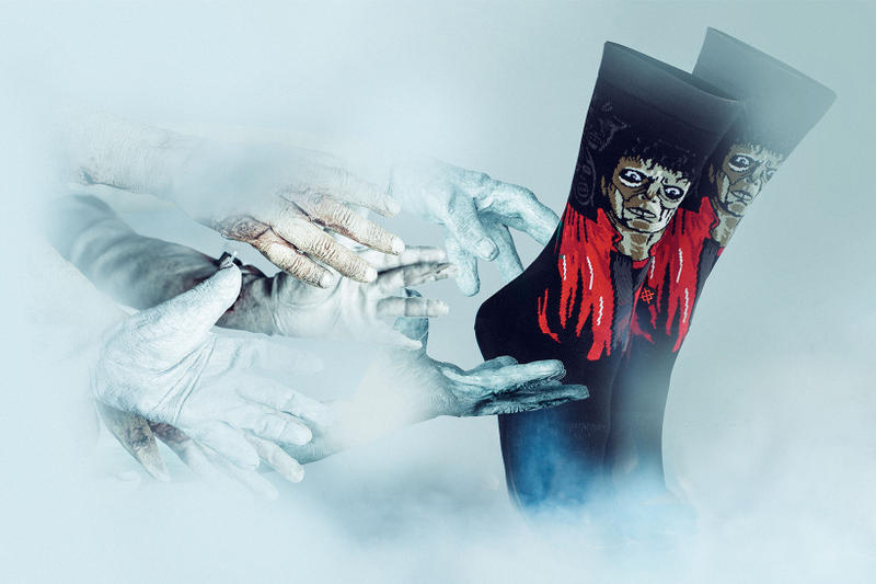 Michael Jackson Thriller Stance Socks Halloween 2017 October Release Date Info werewolf wolf zombie dead red leather jacket