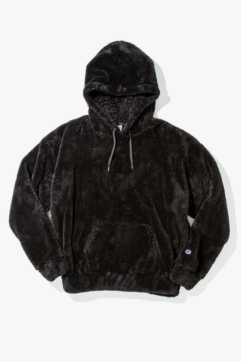 monkey time United Arrows x Champion sherpa fleece hoodies hoody parka pullover 2017 Fall Winter Japan Release Date Info
