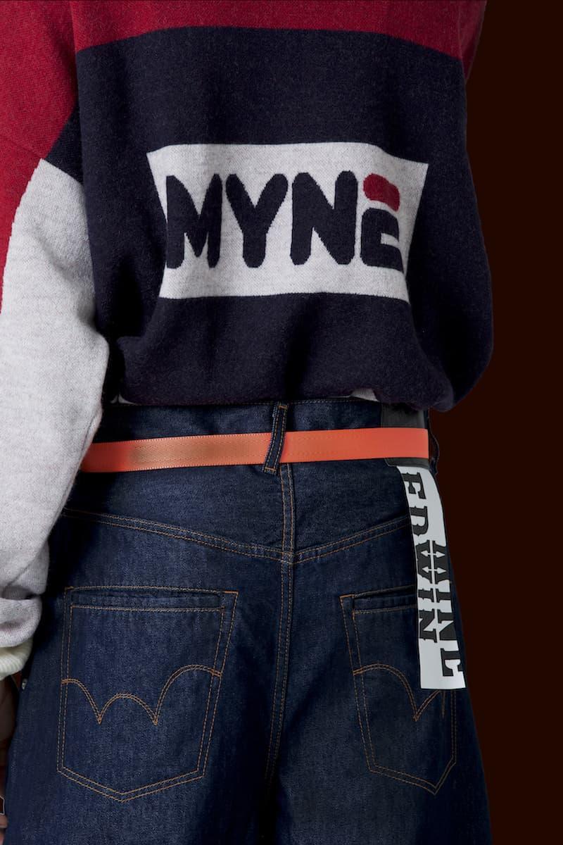 MYNE Mihara Yasuhiro Spring Summer 2018 Collection Lookbook streetwear clothing levi's fila jnco jeans
