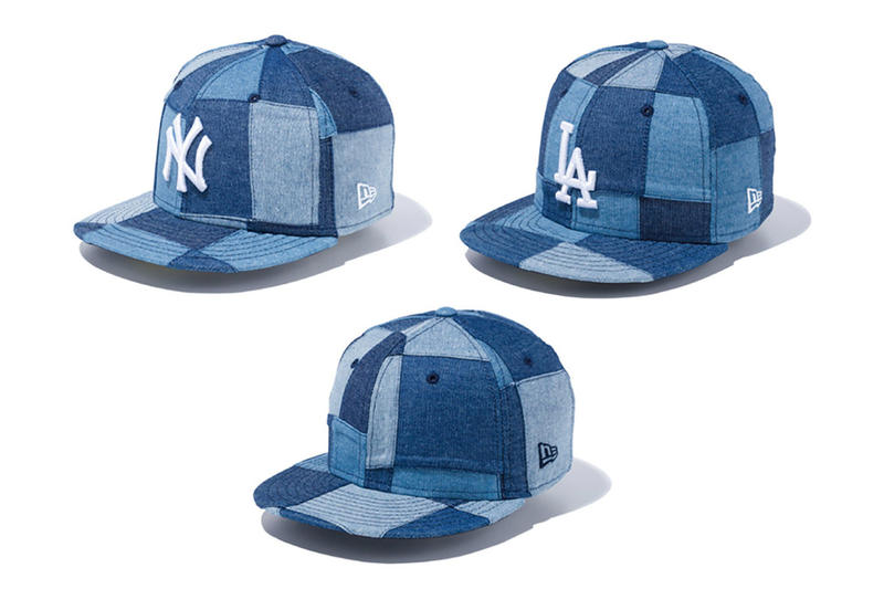 New Era Fall Winter 2017 Patchwork Denim Collection New York Yankees Los Angeles Dodgers