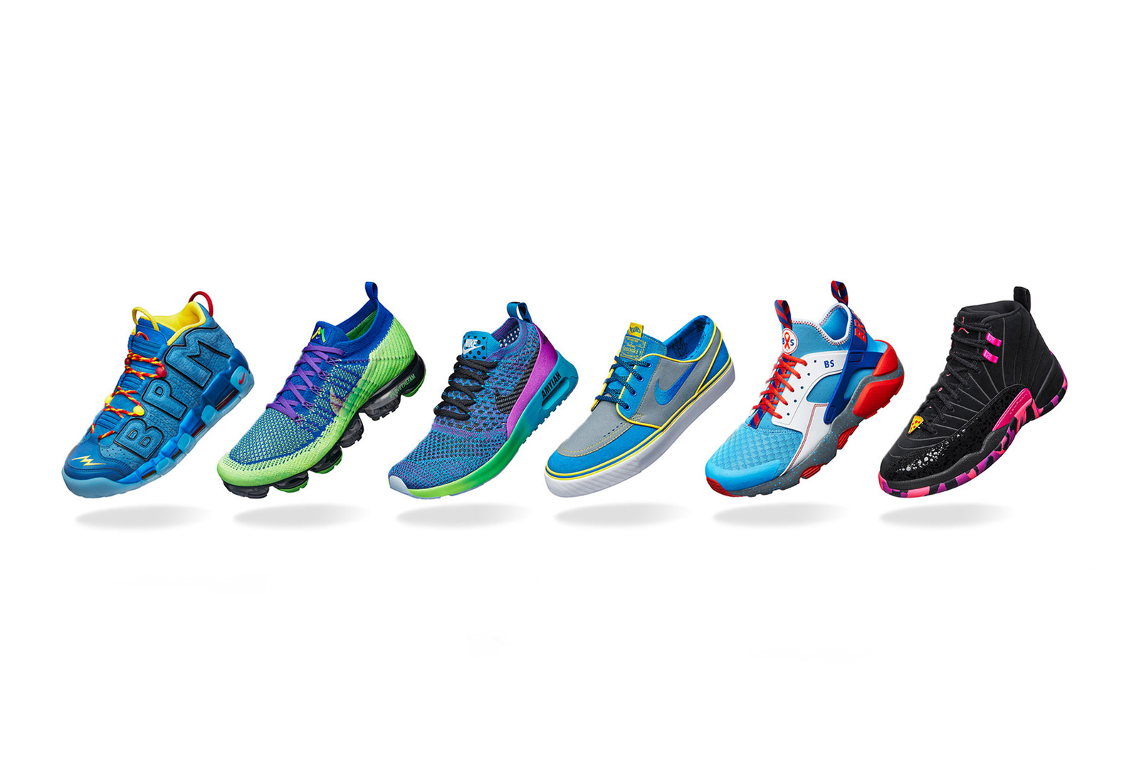 Nike 2017 Doernbecher Freestyle Collection Unveiled OHSU Oregon Swoosh Air Jordan 12 Air Max Thea Air More Uptempo Air Huarache SB Zoom Stefan Janoski Air VaporMax Flyknit