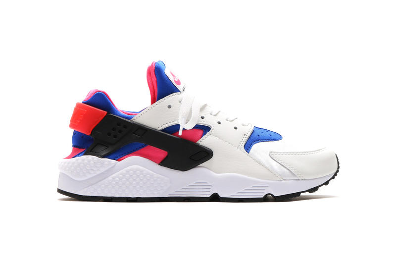 29e3f7b9ffa1f Nike Air Huarache Run 91 QS White Game Royal Black Dynamic Pink 2017  October Fall Release