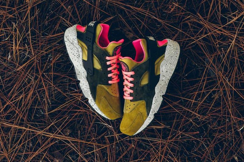 Nike Air Huarache Run Premium Desert Moss Cobblestone Release Date Info Sneaker Drops