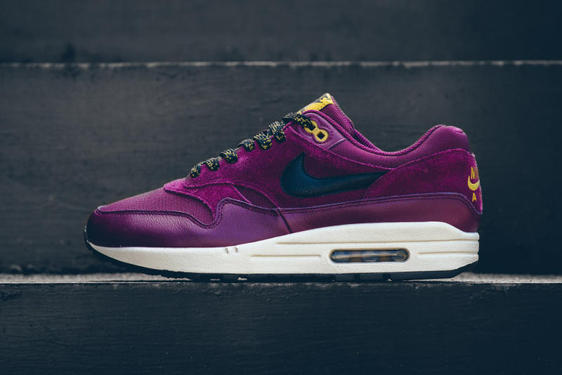 d0a704e76a2f Nike Air Max 1 Premium Bordeaux Desert Moss 2017 October Release Date Info  Sneakers Shoes Footwear