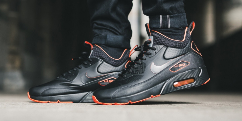 outlet store hot product special for shoe Nike Air Max 90 Ultra Mid Winter Black/Orange | HYPEBEAST