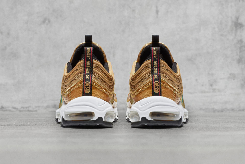 Nike Air Max 97 CR7 Cristiano Ronaldo Gold 2017 October 23 Release Date Info Sneakers Shoes Footwear Real Madrid Portugal