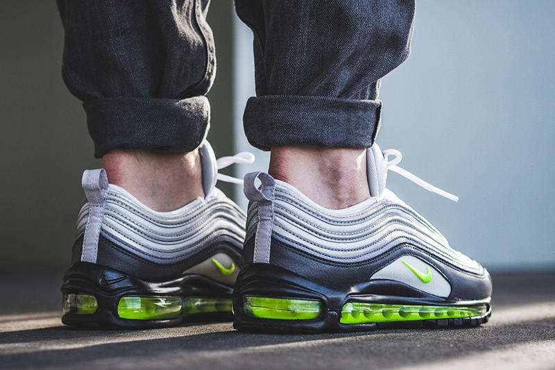 premium selection 5ddbb 2054f Nike Air Max 97 Neon dark grey volt stealth pure platinum Release Info Date  Drops