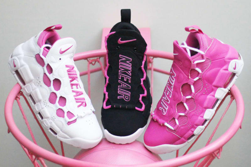 Nike Air More Money Sneaker Room Breast Cancer Awareness Month Footwear Release Date Info Drops Pink
