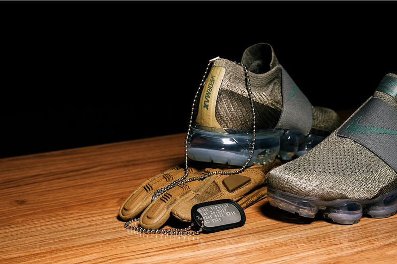 Nike Air VaporMax Laceless Olive Sneakers Shoes Footwear