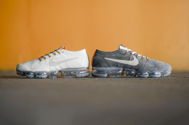 Nike Air VaporMax BespokeIND Leather Custom Pack Sneaker White Grey. 1 of 2 92d318693
