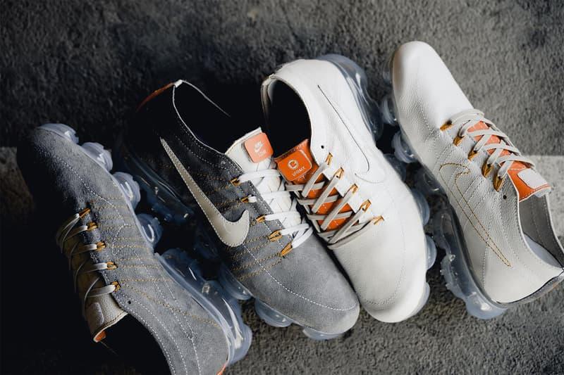 Nike Air VaporMax BespokeIND Leather Custom Pack Sneaker White Grey