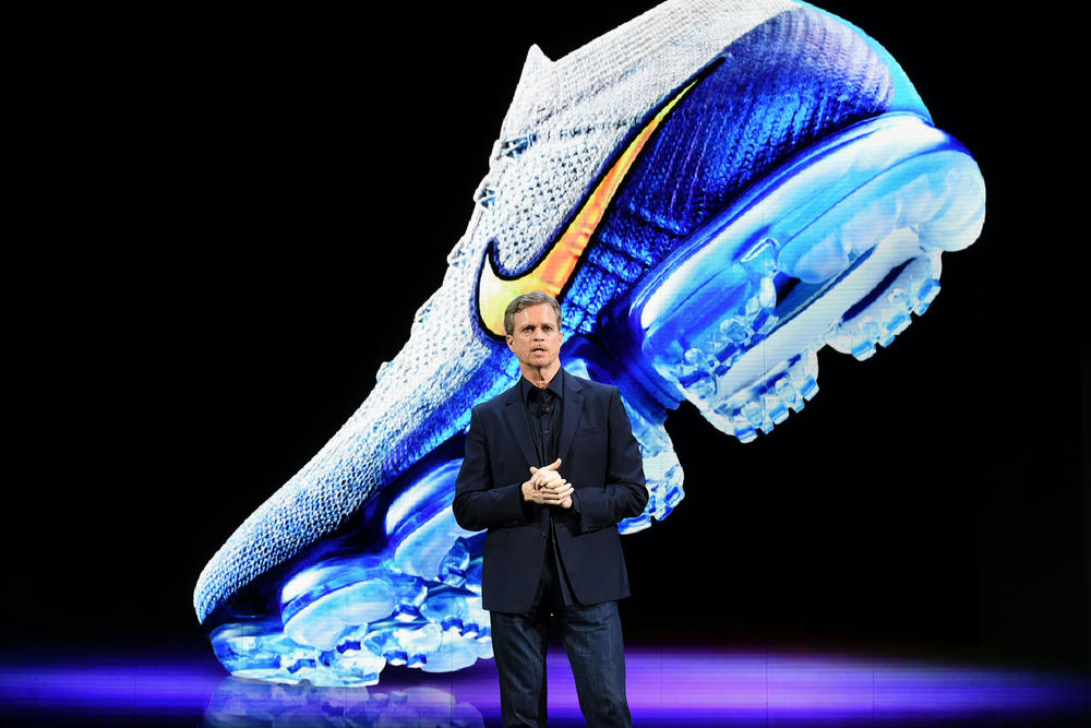 nike investor day 2017 october stock shares market mark park fifty 50 billion 2022 direct to consumer innovation vapormax air sneakers footwear shoes