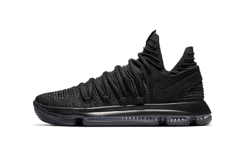f40901fb54e02 Nike KD 10 Triple Black 2017 November 1 Release Date Info Kevin Durant  Sneakers Shoes Footwear