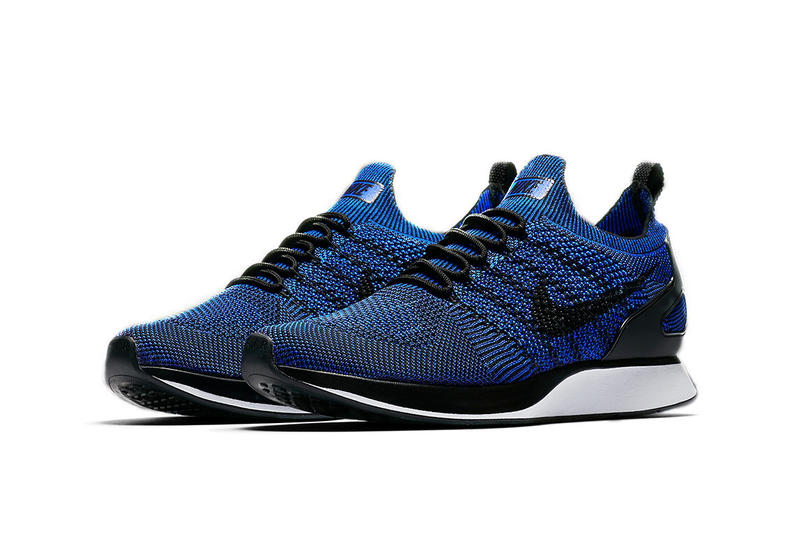 brand new 04a9a 66bb4 Nike Mariah Flyknit Racer Royal Dark Blue White Black Colorway