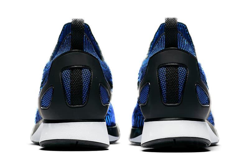Nike Mariah Flyknit Racer Royal Dark Blue White Black Colorway
