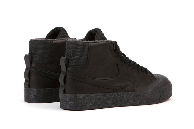 Nike SB Blazer Mid XT Black Leather Bota Shoes Winter Boots