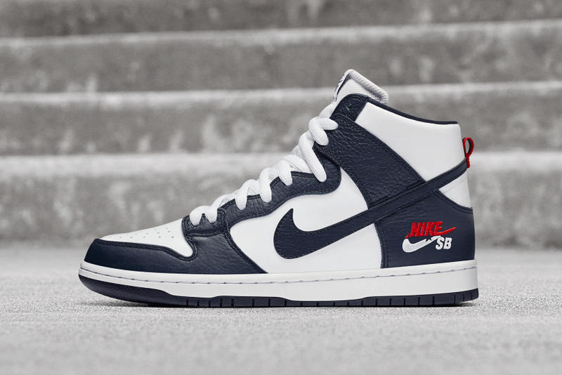 reputable site 9c39f a1f78 Nike SB Dunk High Pro 92 Blue Navy Red White Star Logo 2017 November 2  Release