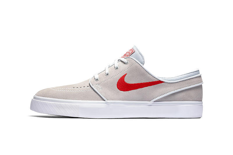 633d0672ccce43 The Nike SB Zoom Stefan Janoski Gets a Beige   Red Makeover. A simple look  for the skateboarding staple.