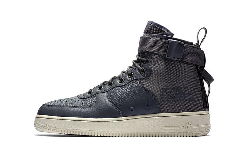 Nike SF AF1 Mid Dark Grey 2017 October Fall Release Date Info Sneakers Shoes Footwear