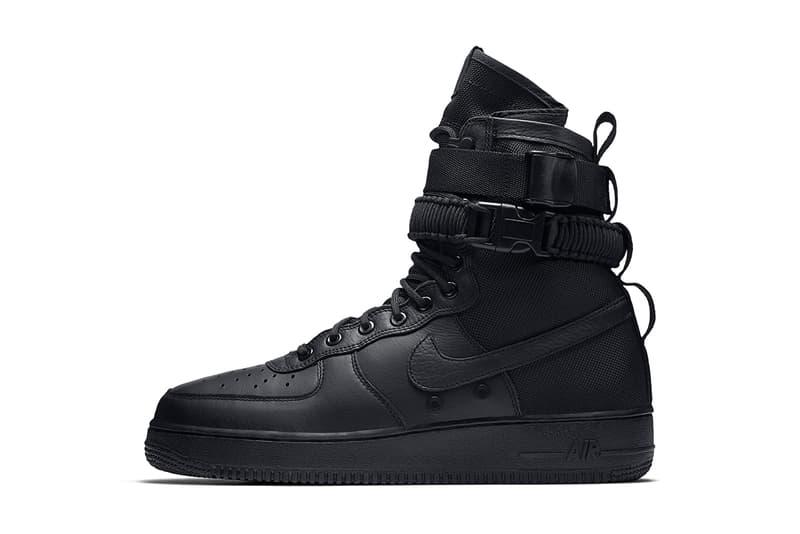 3cf6f1badc0c58 Nike SF AF1 Triple Black Black Friday 2017 November 24 Release Date Info  Sneakers Shoes Footwear