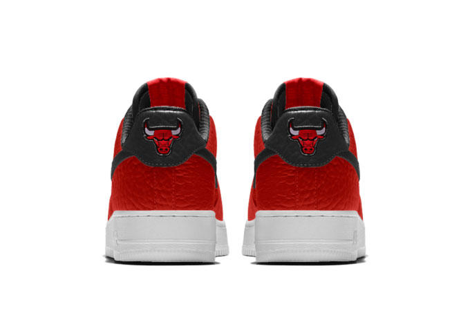 6624c83eb63 NikeiD Air Force 1 Customizable NBA Team Logos Chicago Bulls Raptor Golden  State Warriors