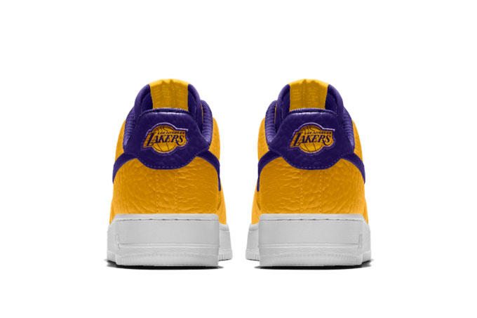 a11b9d315bc Nike. NikeiD Air Force 1 Customizable NBA Team Logos Chicago Bulls Raptor  Golden State Warriors