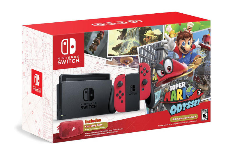 Nintendo Switch Amazon Restock 2017 Super Mario Odyssey Edition Bundle Grey Neon Joy Con