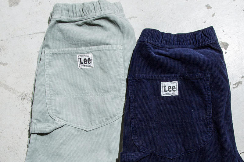 PHINGERIN x Lee Japan for BEAUTY & YOUTH UNITED ARROWS Storm Rider Work Pants collaboration 2017 light navy blue