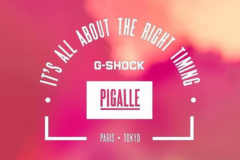 Pigalle Casio G SHOCK Watch Teaser Instagrsam Post 2017 October 23 Stephane Ashpool